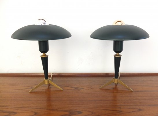 Pair of 'Bijou' Desk Lamps by Louis Kalff for Philips, 1950s
