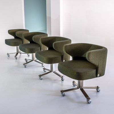 Set of 4 Poney dining chairs by Gianni Moscatelli for Formanova Milano, 1970s