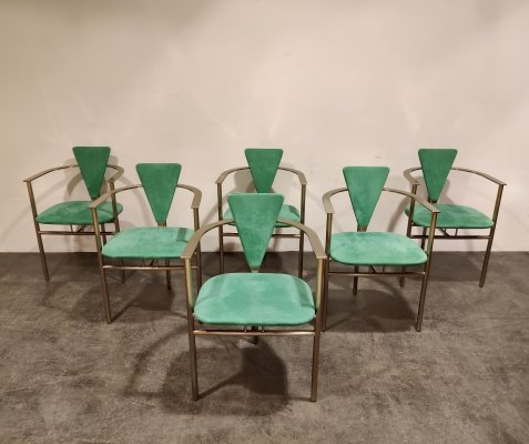 Set of 6 Vintage dining chairs by Belgo Chrom, 1980s