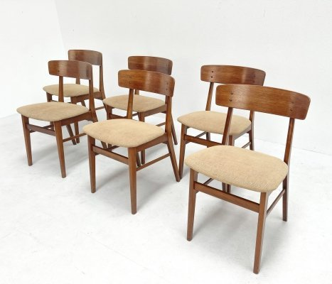 Set of teak dining chairs by Farstrup Møbler