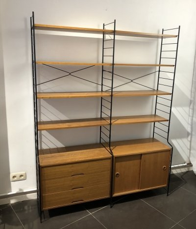 Freestanding Walnut Shelving System by WHB, 1960s