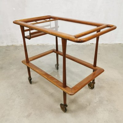 Vintage Italian design serving trolley bar cart by Cesare Lacca