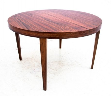 Round rosewood dining table, Denmark 1960s