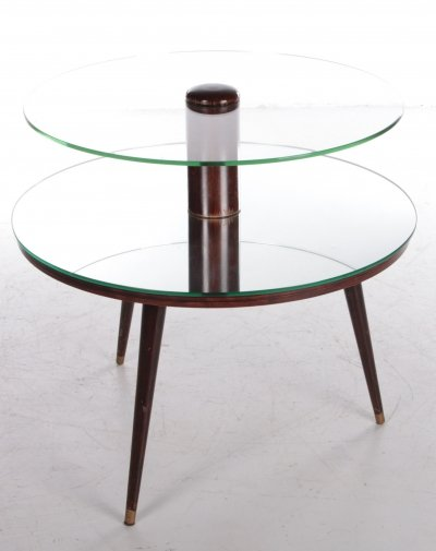 Vintage French Round Coffee Table, 1960s
