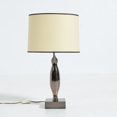 Bronze Penguin Table Lamp by Willy Daro