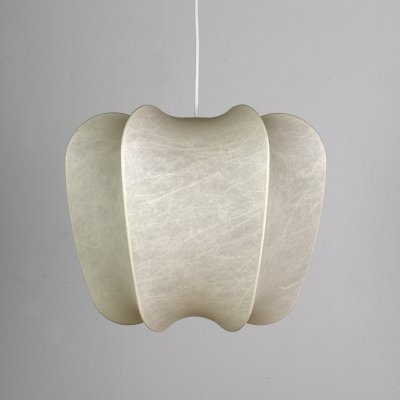 1960s Cocoon Hanging Lamp by Friedel Wauer for Goldkant Leuchten