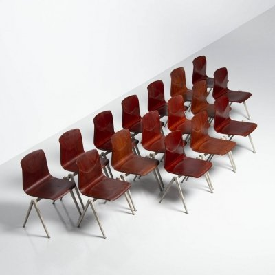 Pagholz stacking chairs set of 16 Germany, 1970