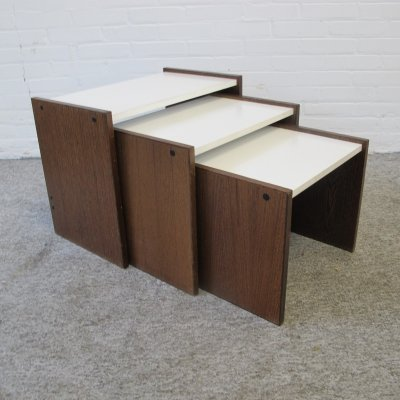 Vintage wenge & formica nesting tables by Pastoe, 1960s