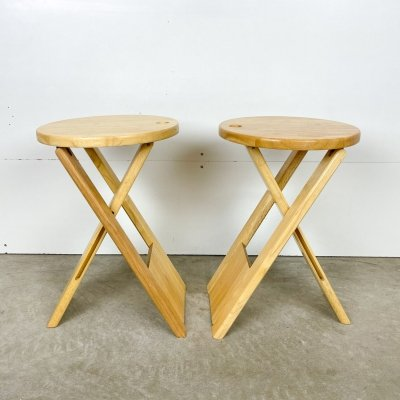 Set of 2 stools by Roger Tallon, 1970s