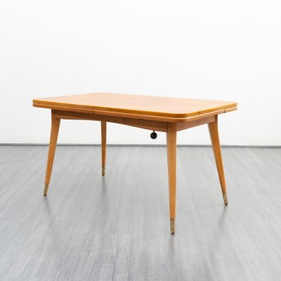 1950s height adjustable & extendable dining table / coffee table