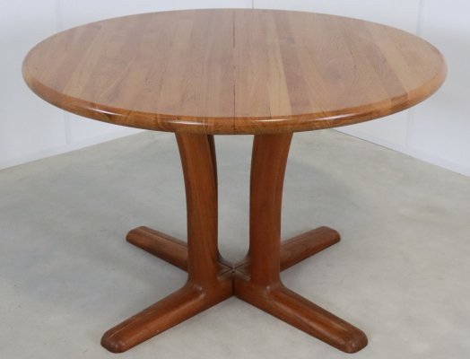 Danish design extendable round dining table, 1960s