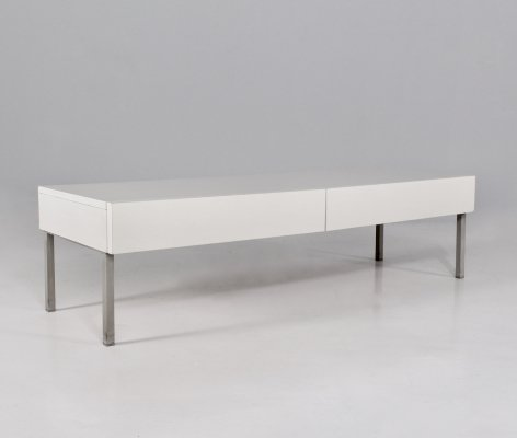 Laminate 2 drawer low console by Interlübke, 1970's