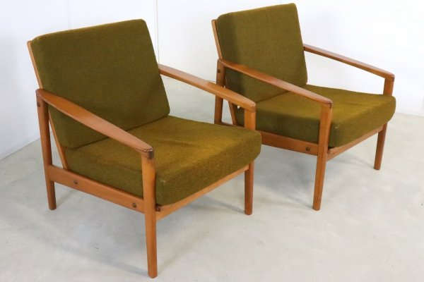 Pair of easy chairs, 1960s