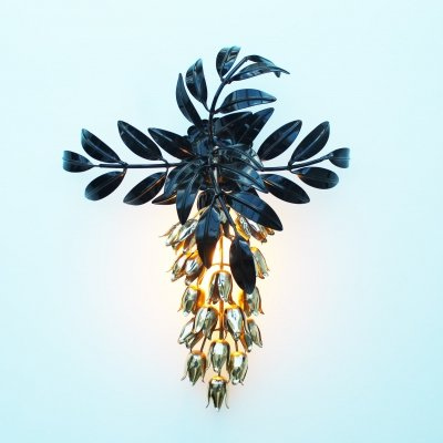 Wisteria Florentine Wall Lamp by Hans Kögl, Germany 1970's
