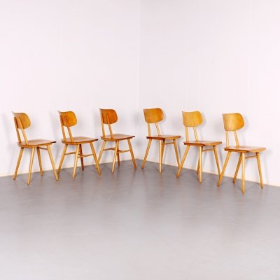 Set of 6 TON dining chairs, 1960s