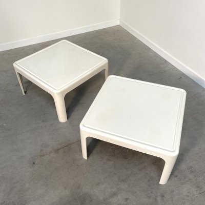 Pair of polyester side / coffee tables, 1970s