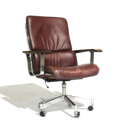 Sibast 1970s leather office chair
