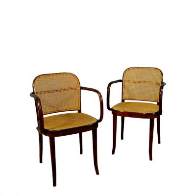 Small Armchairs in Vienna Straw & Wood from Sautto & Liberale
