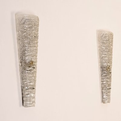 Set of 2 crystal wall lights / appliques, France 1950's