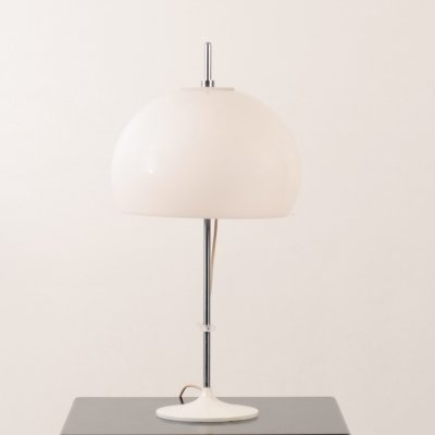 Vintage acrylic mushroom space age table lamp by Gepo