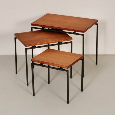 Teak Mimi set / nesting tables by Cees Braakman for UMS Pastoe