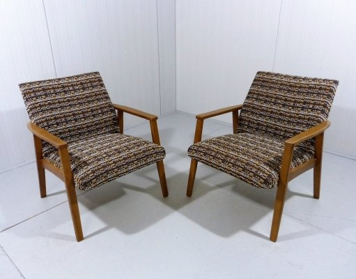 Set of 2 easy chairs, 1960's