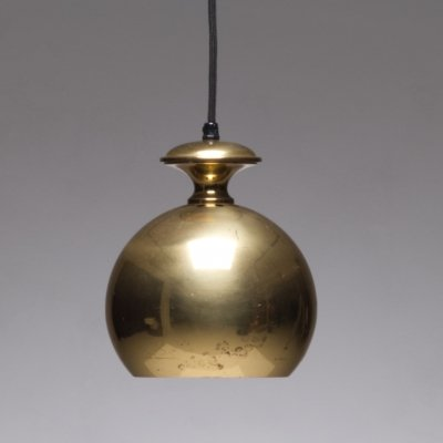 Solid brass Golden ball pendant lamp for Scandi-Lamp A/S, 1960s