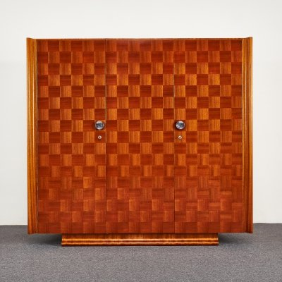 Art Deco Wardrobe with 3 Doors by Jindřich Halabala for Up Závody, 1937