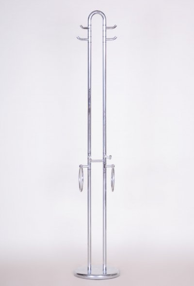 Chrome plated steel coat hook, Italy 1960s