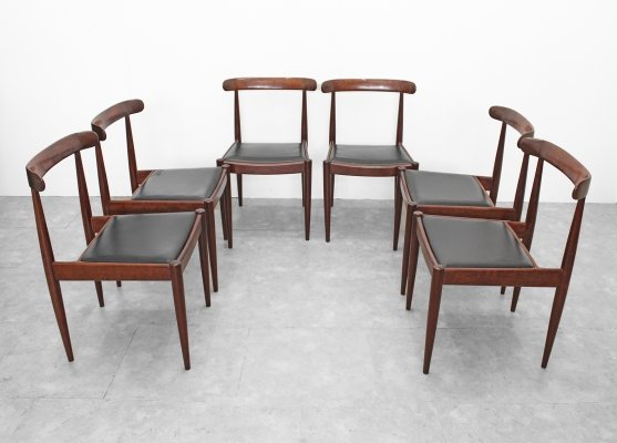Set of 6 chairs by Alfred Hendrickx, 1960s