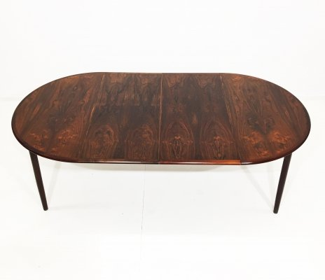 Danish rosewood dining table with two extensions, 1960s