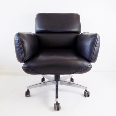 Otto Zapf office leather armchair for Top Star