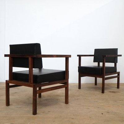 Rare set of Wim Den Boon easy chairs