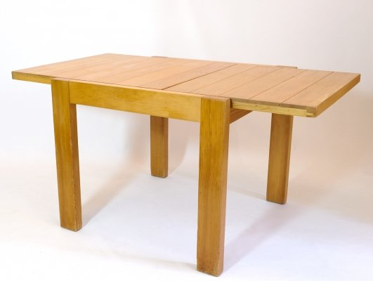 French solid pinewood dining table, 1980s