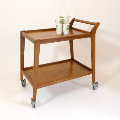 Wooden French serving trolley, 1950s