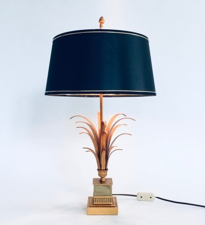 Hollywood Regency Style Design Palmier Table Lamp by SA Boulanger, Belgium 1970s
