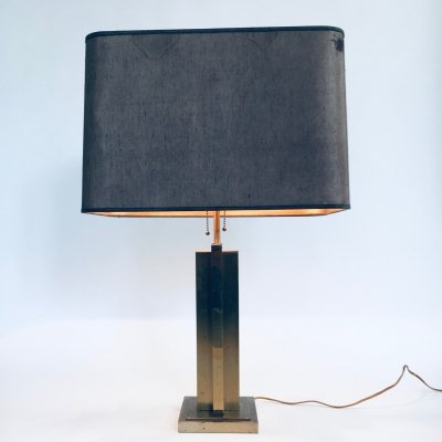 1970's Hollywood Regency Style Brass Architectural Table Lamp