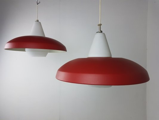 Pair of Stockholm pendant lights by Louis Kalff for Philips, circa 1950
