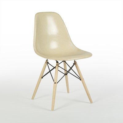 Parchment Herman Miller Original Vintage Eames DSW Dining Side Shell Chair