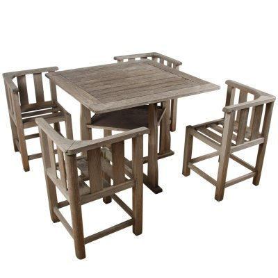 Heal's Style 1960s English Garden Table & Chairs