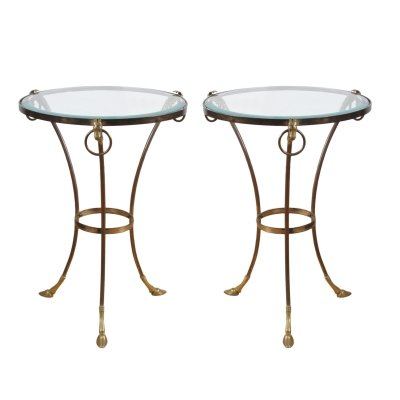 Pair of French 1950s Side Tables With Rams Head & Hoof Detail