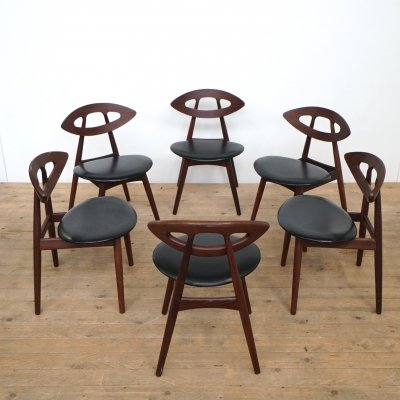 Set of 6 'Eye Chair' by Ejvind A. Johansson for Ivan Gern