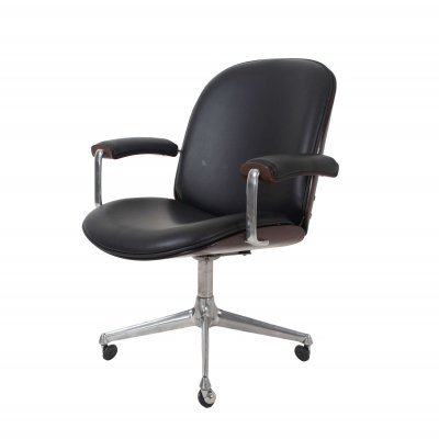Early Model Ico Parisi Desk Chair with Armrests by MIM Roma, Italy 1959