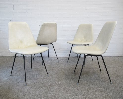 Vintage set of four Italian dining chairs, 1950s