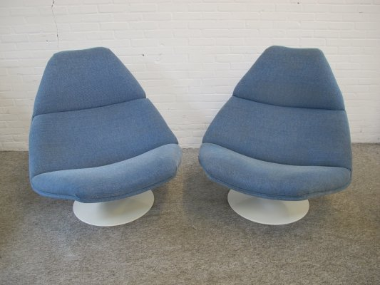 Vintage pair of F 510 lounge Chairs by Geoffrey Harcourt for Artifort, 1960s