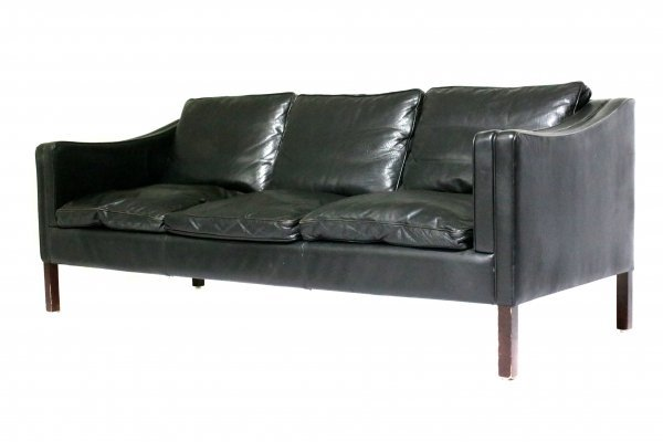 Vintage Leather 3-Seater Sofa from Stouby