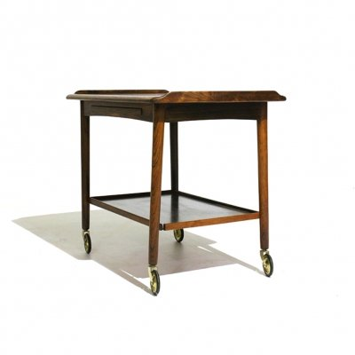 Danish Rosewood Tea Trolley by MH Møbler