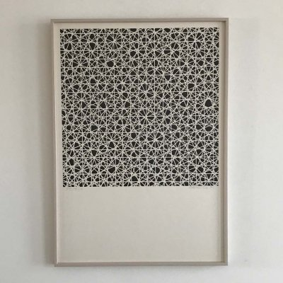 Rare first serigraph by Francois Morellet, 1961
