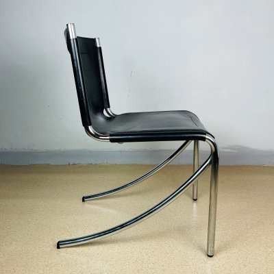 Mid-century black chair JOT by Giotto Stoppino for Acerbis, Italy 1970s