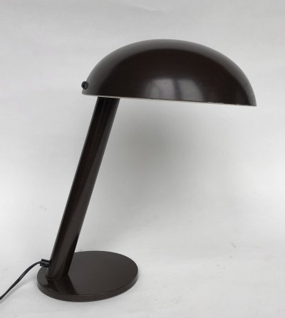 Brown desk lamp by H. Busquet for Hala, 1980s